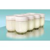 <strong>Euro Cuisine</strong> Yogurt Glass Jars (Set of 8)