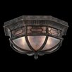 <strong>Fine Art Lamps</strong> Devonshire 2 Light Outdoor Flush Mount