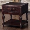 Lazzaro Leather End Table