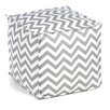 Chooty & Co Zig Zag Square Seamed Pouf Ottoman