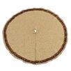 """Chooty & Co 53"""" Burlap Round Fringed Tree Skirt"""