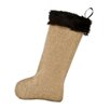 Chooty & Co Burlap with Taline Fur Band Christmas Stocking