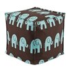 Chooty & Co Ele Kelso Seamed Zippered Beads Pouf Ottoman