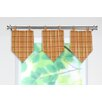 Upstream Plaid Linen Stitched V Curtain Valance