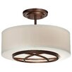<strong>Minka Lavery</strong> City Club 3 Light Semi-Flush Mount