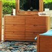 Flyer 6 Drawer Double Dresser