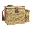 Household Essentials Banana Leaf Picnic Basket with Wine Caddy