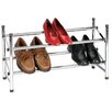 <strong>Household Essentials</strong> Storage and Organization Sliding Rods Shoe Rack with Locking Mechanism