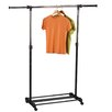 <strong>Household Essentials</strong> Storage and Organization Extendable Garment Rack in Chrome/Black
