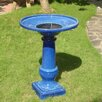 Smart Solar Athena Blue Ceramic Solar on Demand Birdbath