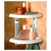 Zenith Products Two Tier Corner Shower Caddy in White