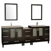 "Design Element Galatian 88"" Bathroom Vanity Set with Double Sink"