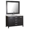 "Design Element London 48"" Single Bathroom Vanity Set with Mirror"
