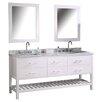 "Design Element London 72"" Double Bathroom Vanity Set with Mirror"