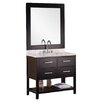 "Design Element 36"" Single Bathroom Vanity Set with Mirror"