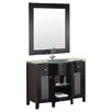 "Design Element Rome 43"" Single Bathroom Vanity Set with Mirror"
