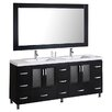 "Design Element Stanton 72"" Bathroom Vanity Set with Double Sink"