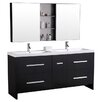 "Design Element Perfecta 72"" Bathroom Vanity Set with Double Sink"