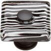 "Atlas Homewares Glass Zebra 1.5"" Square Knob"