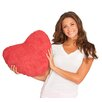 Deluxe Comfort Scarlet Valentine Heart Plush Decorative Pillow