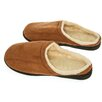 <strong>Camel Suede Male Slippers with Wool Fleece Lining</strong> by Deluxe Comfort