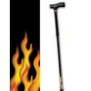Rebel Canes Flames on Bottom Single Point Cane
