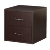 Foremost Modular Storage Cube with Two Drawers in Espresso