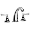 Elegante Widespread Bathroom Faucet with Double Lever Handles