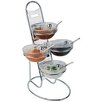 Paderno World Cuisine 3-Tier Buffet Ladder and Medium Bowl Set
