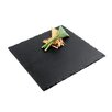 "Paderno World Cuisine 10"" Square Natural Slate Tray (Set of 2)"