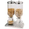 Paderno World Cuisine 4.7 Qt. Polypropylene Cereal Dispenser Duo with Stainless Steel Lids