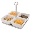 Paderno World Cuisine 4 Piece Melamine Bowl and Tray Set with Handle