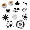 Paderno World Cuisine Assorted Cappuccino Stencil (Set of 10)