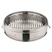 Paderno World Cuisine Oversized Stainless Steel Dumpling Steamer Base