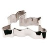 Paderno World Cuisine Stainless Steel Bunny Cookie Cutter (Set of 10)