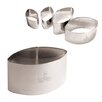 """Paderno World Cuisine 1.75"""" Stainless Steel Calisson Cutter (Set of 4)"""