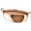 "Paderno World Cuisine 14.75"" Copper and Tin Oval Vegetable Pan"
