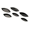 "Paderno World Cuisine 7 Piece 4"" Non-Stick Plain Boat Mold Set (Set of 8)"