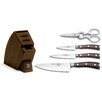 Wusthof Ikon 5 Piece Studio Walnut Knife Block Set