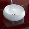 Bissonnet Area Boutique Tulip Porcelain Vessel Bathroom Sink with Overflow