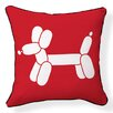 <strong>Naked Decor</strong> Doxie Red Balloon Pillow