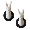 Naked Decor Wild Rabbit Head Trophies Wall Décor (Set of 2)