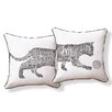 Naked Decor Typography Cat Pillow