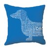 Naked Decor Dachshund Typography Throw Pillow
