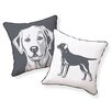 Naked Decor Labrador Retriever Pillow