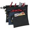Custom Leathercraft 3 Piece Multipurpose Clip On Zippered Bags Set