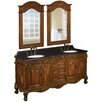 """<strong>73"""" Double Basin Sink Vanity Set</strong> by Belle Foret"""