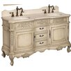 "<strong>Belle Foret</strong> 59"" Double Sink Bathroom Vanity Set"