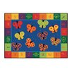 <strong>Carpets for Kids</strong> Literacy 123 ABC Butterfly Fun Kids Rug