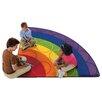 Carpets for Kids Printed Rainbow Rows Corner Area Rug